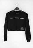 Good is The Enemy Crop Sweater