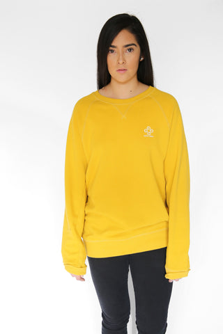 Mustard Basic Crew Sweater