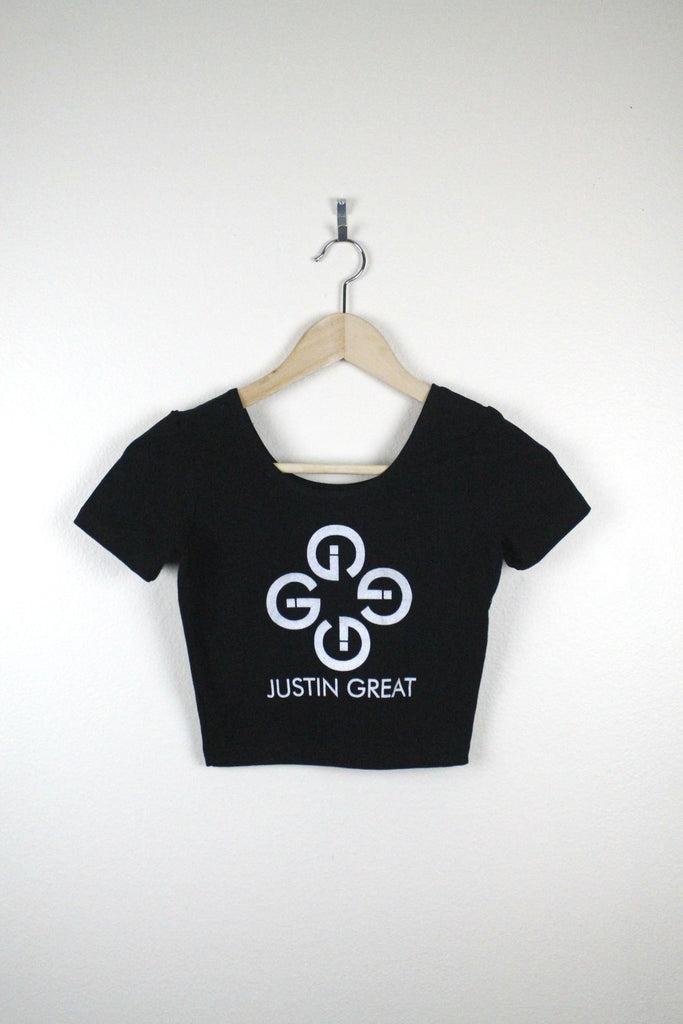 Justin Great Logo Scoop Crop