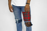 Plaid Patch Jean