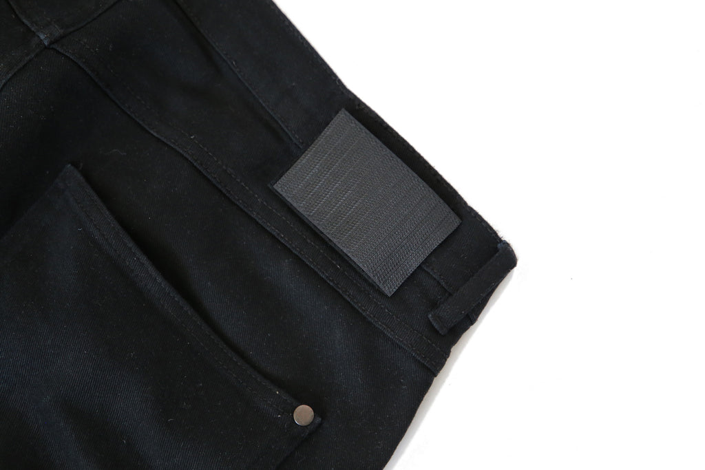 Slim Fit Auto-Taper Jeans (Black)