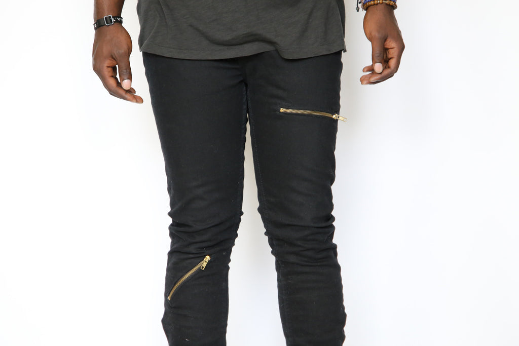 Slim Fit Zipper Jeans