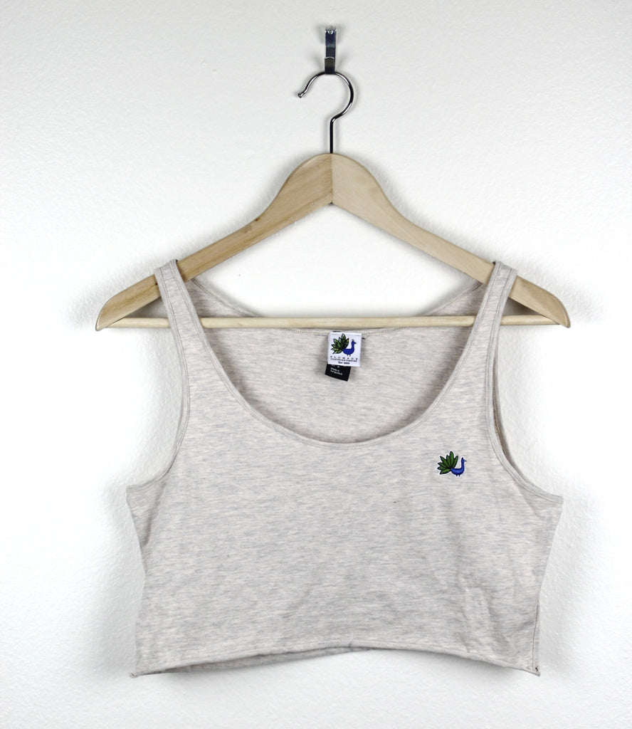 Peacock Fitted Crop Tank