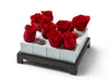 Sixteen Square Rose Bed Vase Set