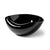 Black Glaze Folded Salad Bowl