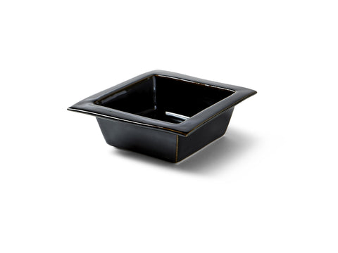 Black Glaze Square Bowl
