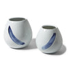 Blue Brush Stroke Tear Drop Vases