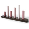 Pinky Pink Six Pipe Vase Set