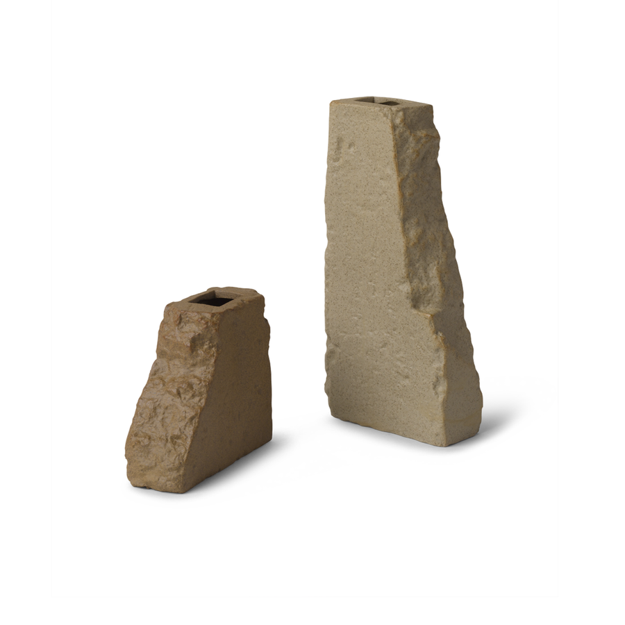 Stoneware Brick Shaped Vases