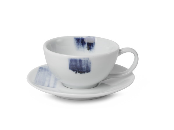 China Blue Brush Stroke Coffee Cup