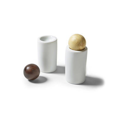 Porcelain and Wood Shakers