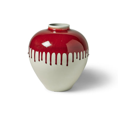 Imperial Red Strawberry Vase