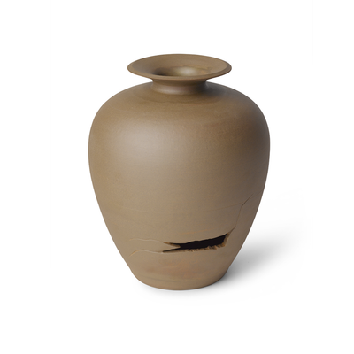 Broken-but-Not Stoneware Vase