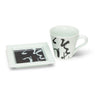 Zhang Xu Calligraphy Black and White Coffee Cup Gift Set