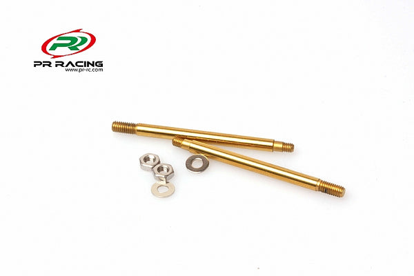 Front Titanium Titanium Nitride Coated Shock Shaft -42mm For Type R(2pcs)