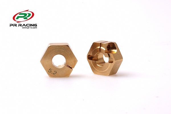 Wheel Hex Brass - 12mm x 5.2mm (2pcs)