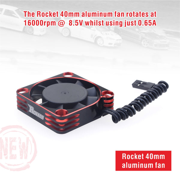 ROCKET ALUMINUM 40X40X10 16000RPM COOLING FAN (RED&BLACK) FOR MOTOR