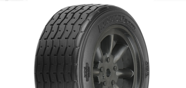 PROTOFORM VTA FRONT TYRES 26MM MOUNTED ON BLACK WHEELS - PR10140-18