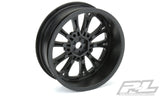 "POMONA DRAG SPEC 2.2"" BLACK FRONT WHEELS (2) FOR SLASH - PR2775-03"