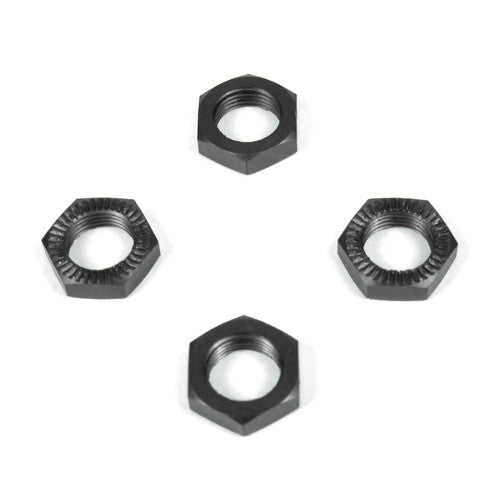 Wheel Nuts (17mm, serrated, gun metal anodized, M12x1.0, 4pcs)
