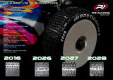 "2027-S Plus white white wheels and""BLUE"" Insert  Closed Cell * 2pcs (25 Degree)"