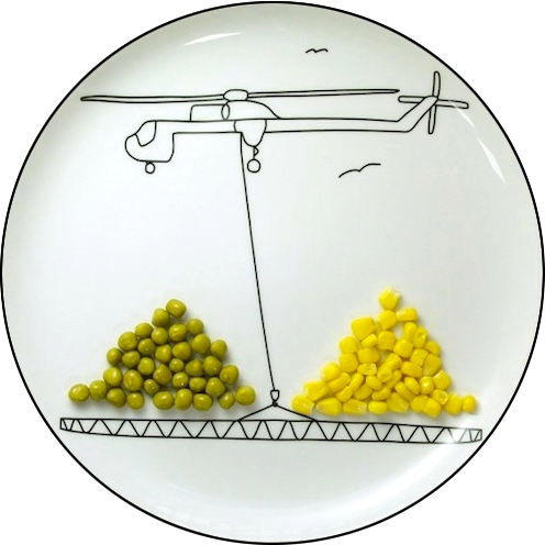 Eat Your Peas Transport Plate