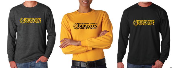 Bobcats Volleyball ADULT Long Sleeve T-shirt