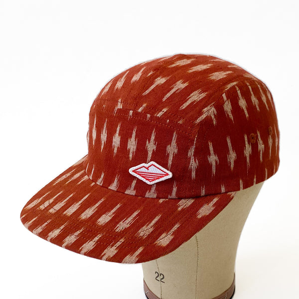 Travel Cap, Clay Ikat