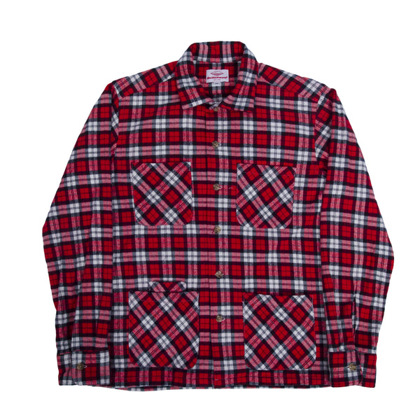 5 Pocket Canyon Shirt, Red x White