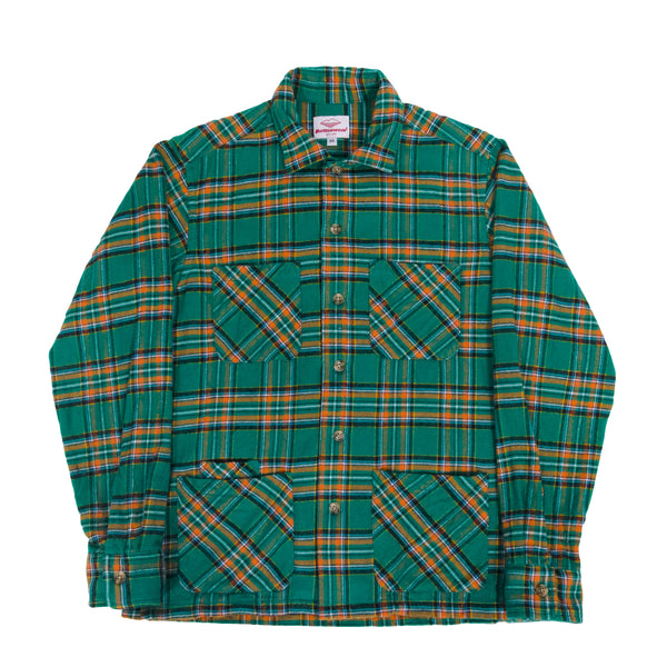 5 Pocket Canyon Shirt, Green x Yellow