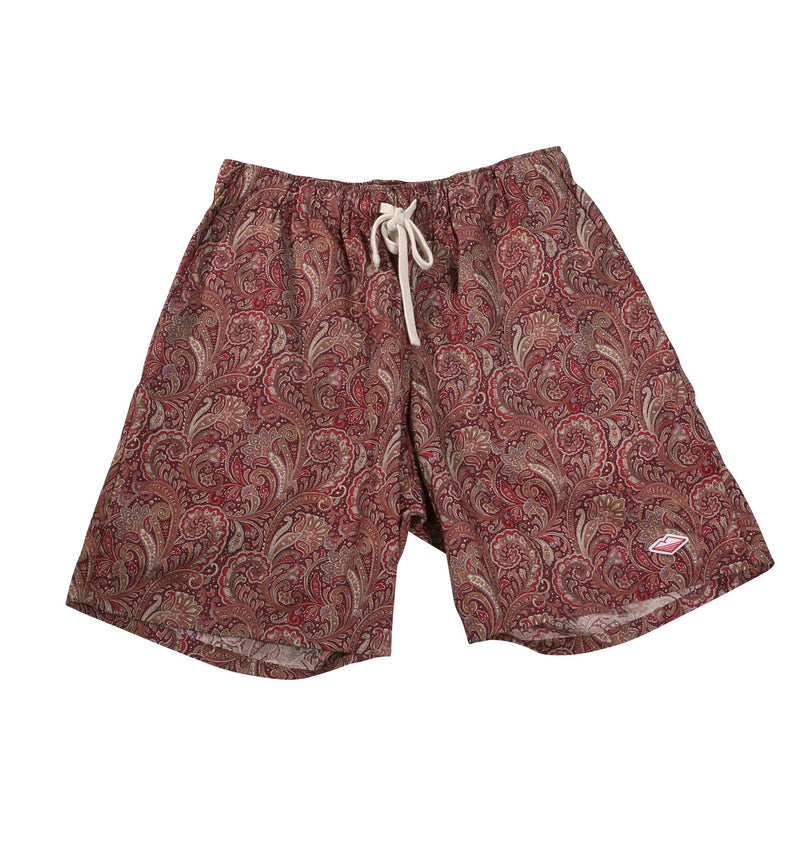 Active Lazy Shorts, Red Paisley