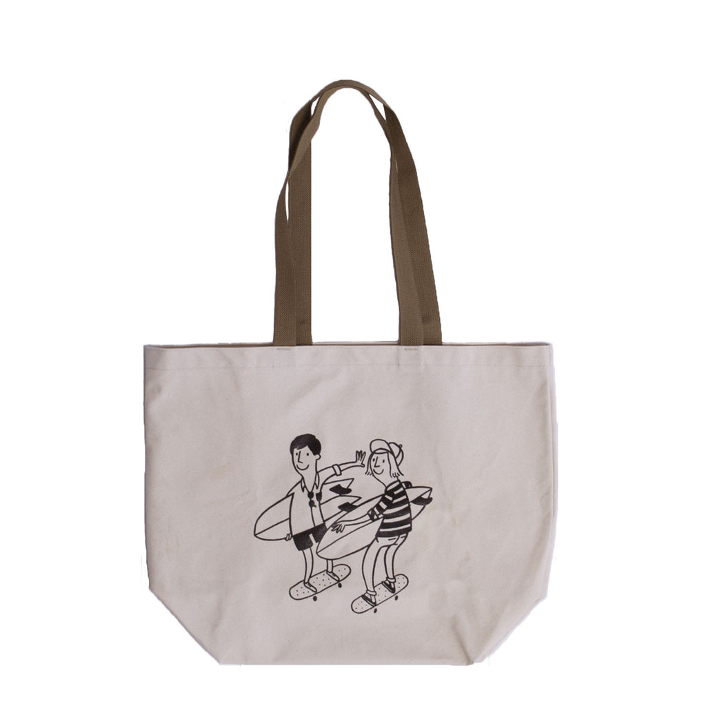 Beach Run Canvas Tote, Natural