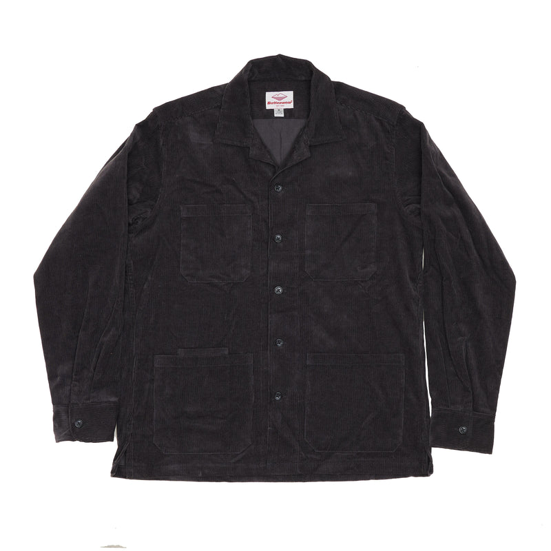 Five Pocket Canyon Shirt, Charcoal 14-Wale Corduroy