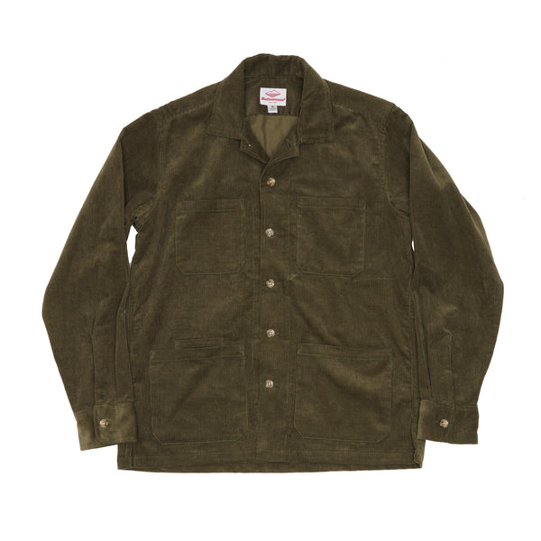 Five Pocket Canyon Shirt, Olive 14-Wale Corduroy