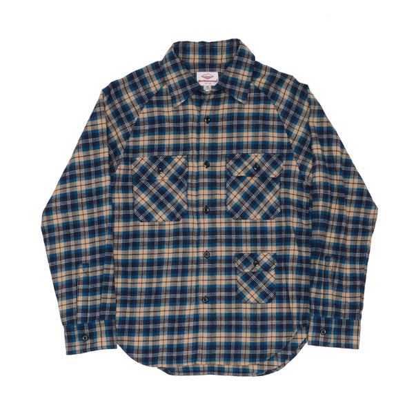 Camp Shirt, Blue Plaid Flannel