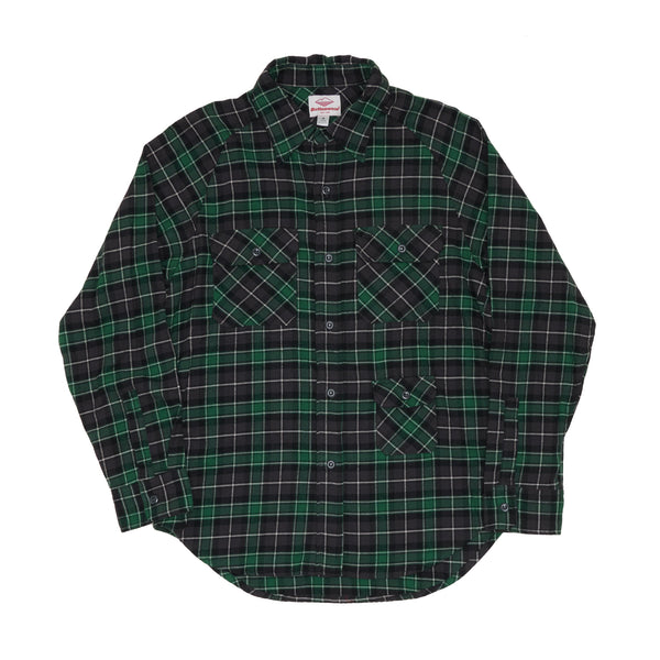 Camp Shirt, Green Plaid Flannel