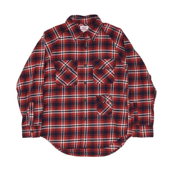 Camp Shirt, Red Plaid Flannel
