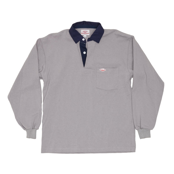 Pocket Rugby Shirt, Grey 12oz Jersey