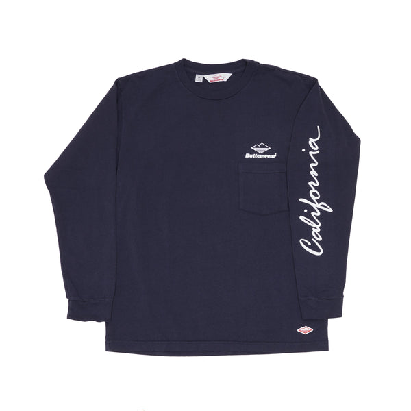 CA L/S Basic Pocket Tee, Navy
