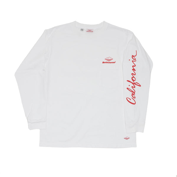 CA L/S Basic Pocket Tee, White