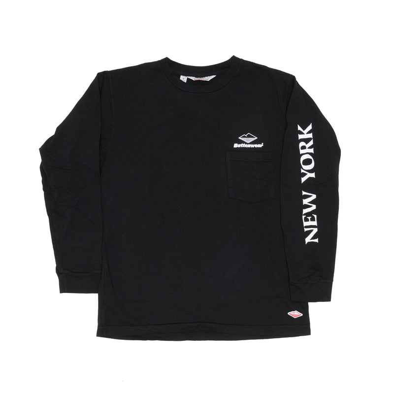 NY L/S Basic Pocket Tee (FW19), Black