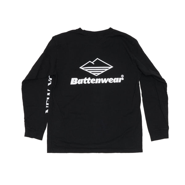 NY L/S Basic Pocket Tee, Black