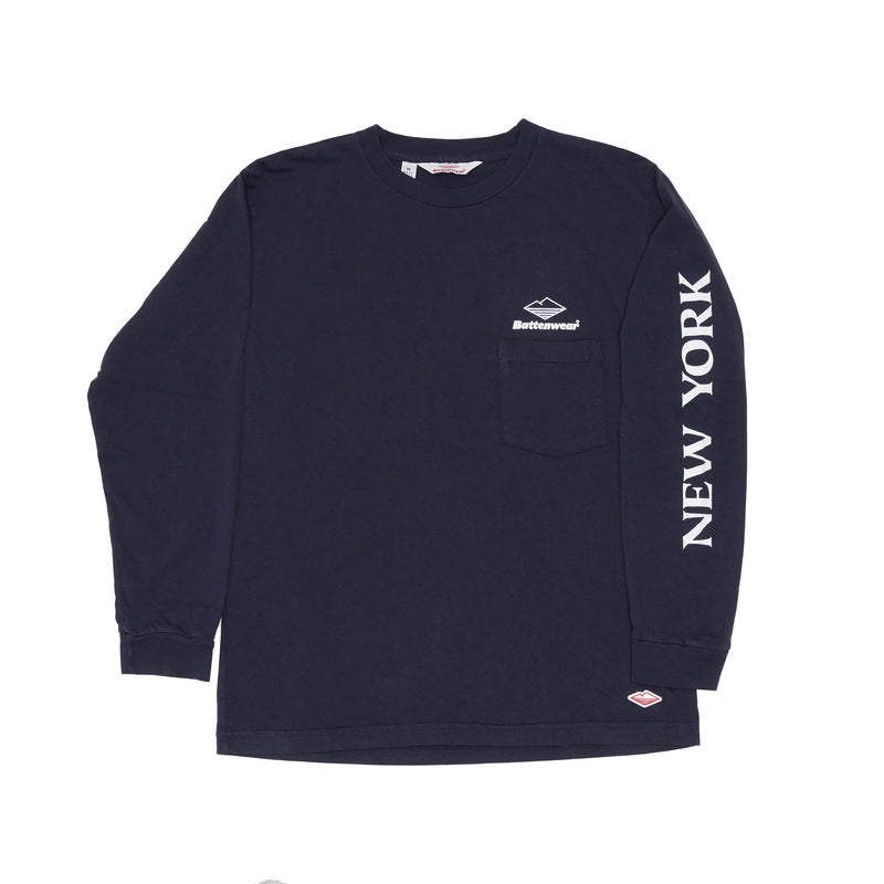 SAMPLE OF NY L/S Basic Pocket Tee (FW19), Navy