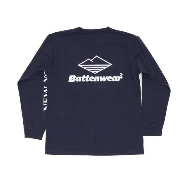 NY L/S Basic Pocket Tee, Navy