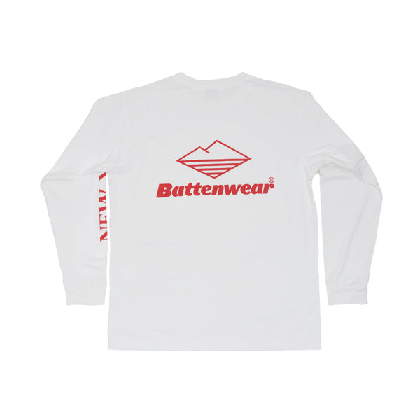 NY L/S Basic Pocket Tee, White
