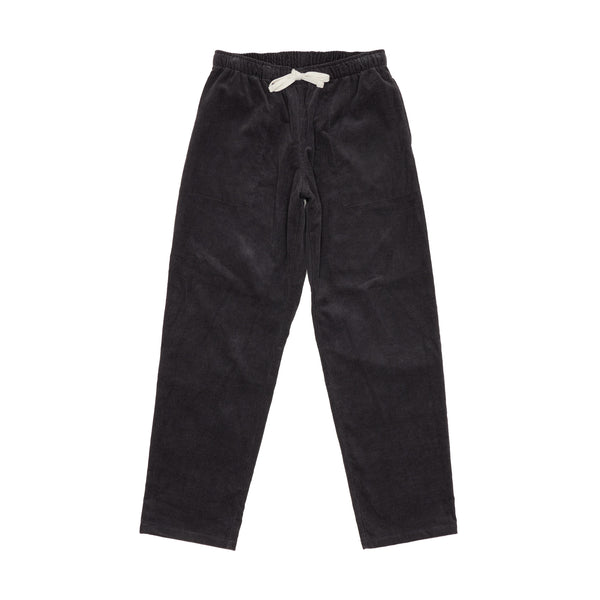 Active Lazy Pants, Charcoal 14-Wale Corduroy