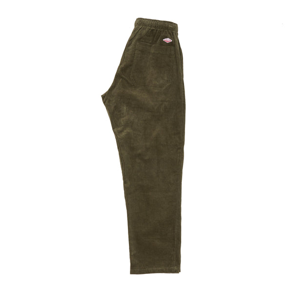 Active Lazy Pants, Olive 14-Wale Corduroy