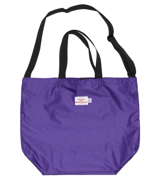 Packable Tote, Purple x Black
