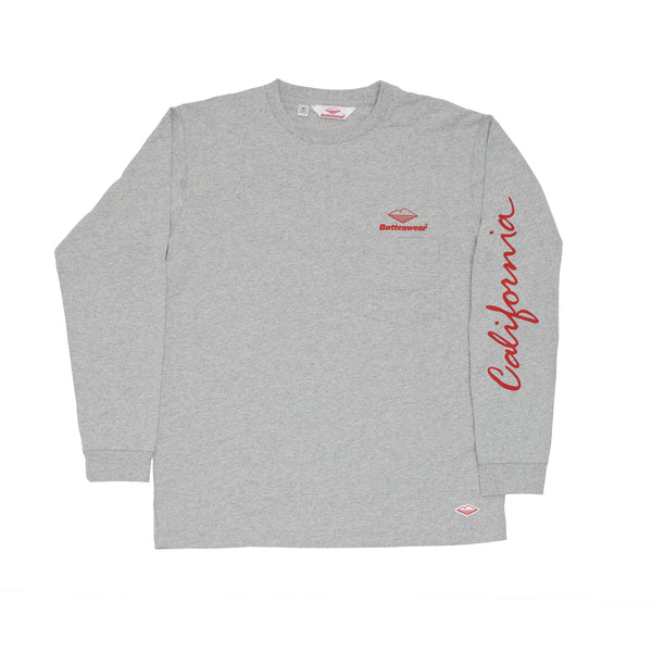 CA L/S Basic Pocket Tee, H Grey