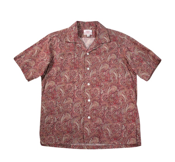 Five Pocket Island Shirt, Red Paisley